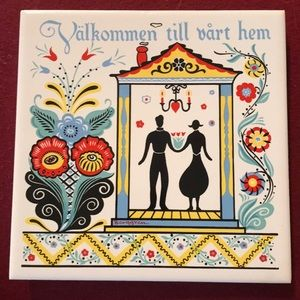 🇺🇸 Berggren Welcome to Our Home Swedish Tile